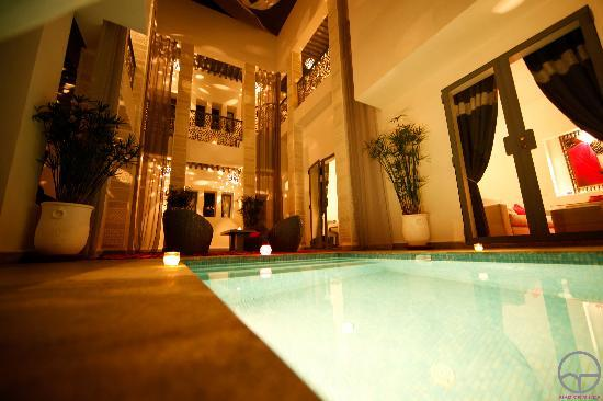 Riad Origines: Patio nuit
