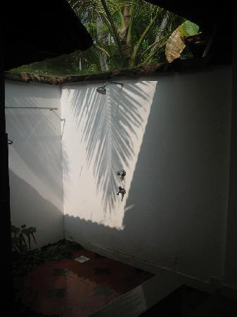 Palmgrove Lake Resort: Outdoor shower!