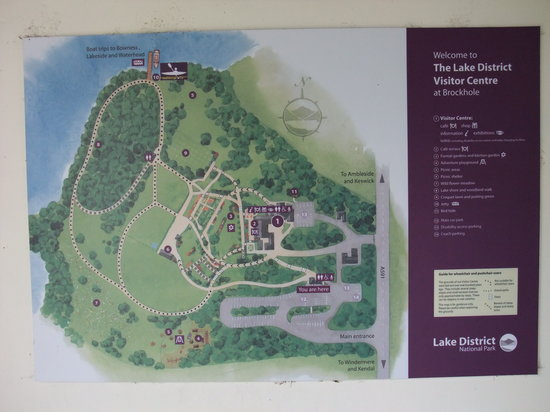 Windermere, UK: Map of the grounds