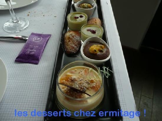 L'Ermitage Hotel Cuisine-a-Manger: les desserts chez ermitage st cyr
