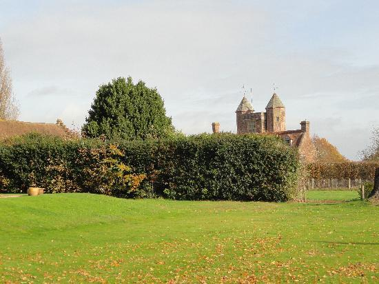 Sissinghurst Castle Farmhouse: View from the garden towards Sissinghurst Castle