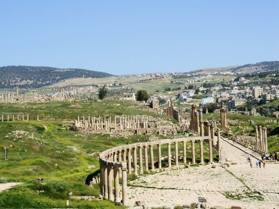 Джераш, Иордания: The Oval Piazza on the Credo in Jerash