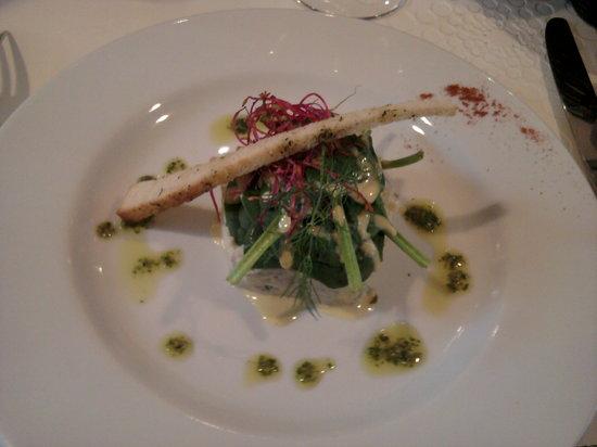 La Régate restaurant : Entrée : Tartare de hareng doux, succulent, très belle découverte