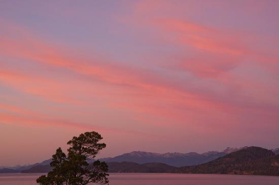 La Sirenuse Lake Resort: Atardecer desde el balcon