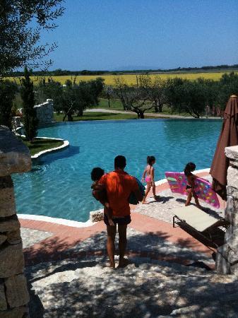 La Pecora Ladra: view to the pool