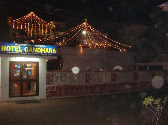 Hotel Gandhara at night