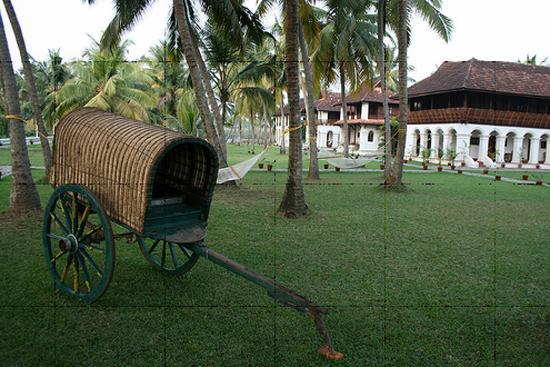 Chempu, India: bullock cart in Kerala Palace
