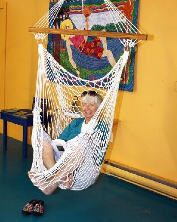 Medium image of the bay hammock  pany  a hammock swing is a cosy spot to curl up and