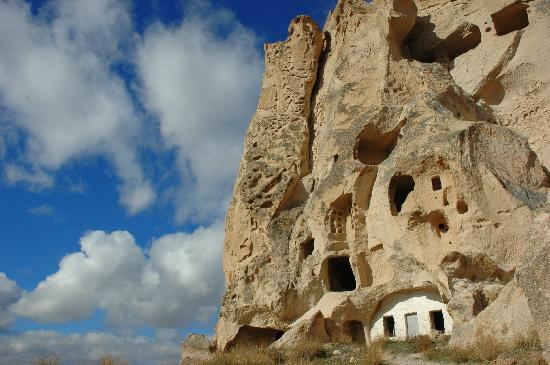 Part of the Uchisar Castle, originally a giant Fairy Chimney itself...