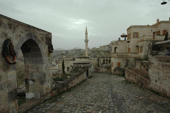 Argos in Cappadocia: Street passing through partitions of the hotel