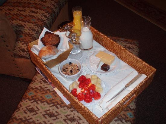 Inn at Desert Wind Winery: Morning breakfast served in your room