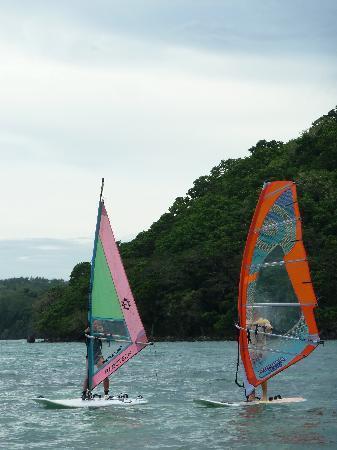 Safari Island Lodge: windsurfing lesson