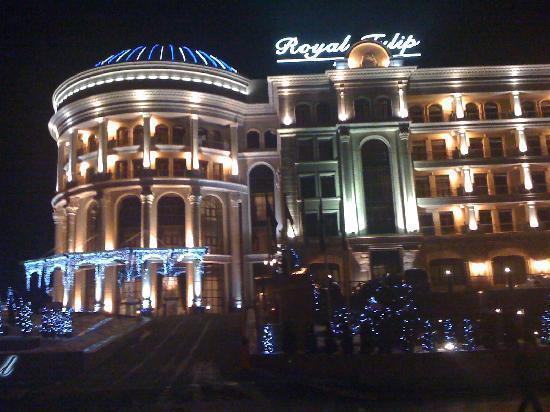 Royal Tulip Almaty: The hotel at night