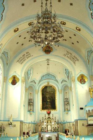 St.-Elisabeth-Kirche/Blaue Kirche: Blue church interior