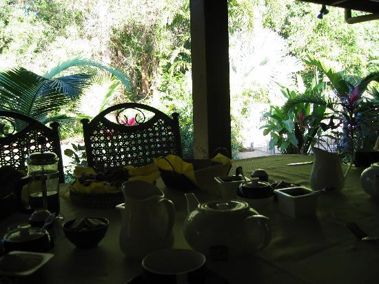 Hibiscus Lodge: Breakfast on the Verandah