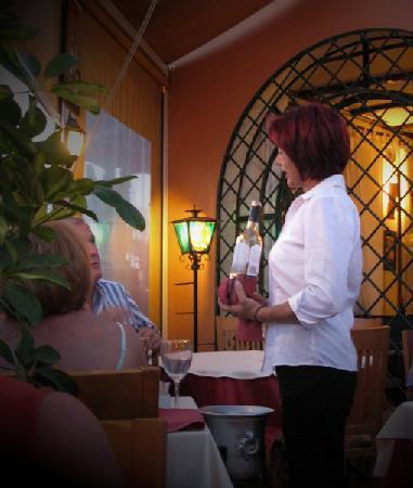 La Capannina: dining on the terrace