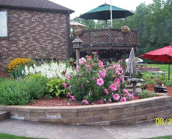 Quail's Covey Bed & Breakfast: The beauty of the flower garden
