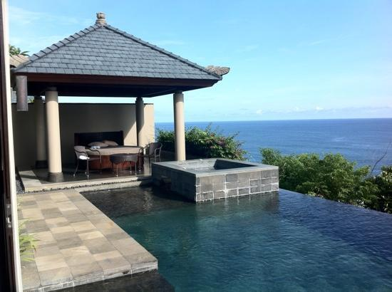 Banyan Tree Ungasan, Bali: spa with view