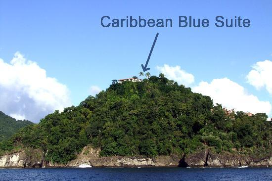 Marigot Bay, St. Lucia: Caribbean Blue Suite location