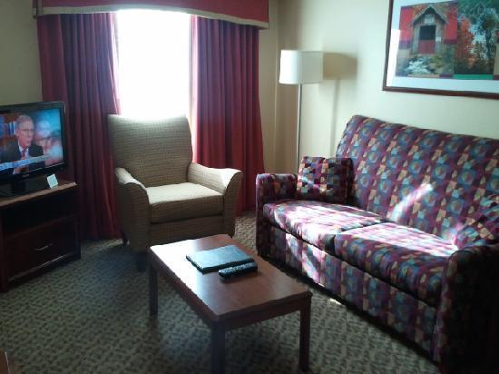 Residence Inn Boston Franklin: 1 bedroom suit (living room)