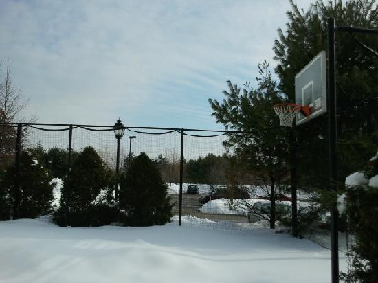 Residence Inn Boston Franklin: snow covered courts