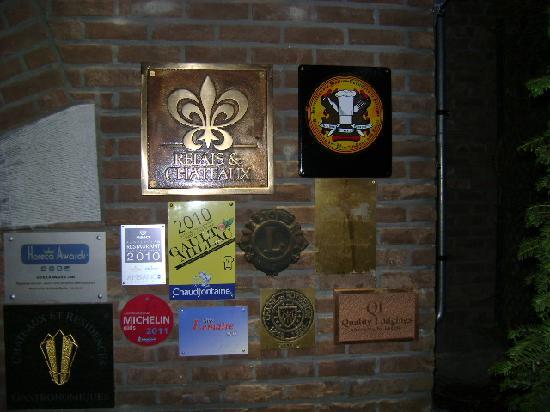La Butte Aux Bois Hostellerie: the winning labels