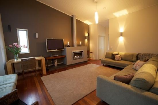 An apartment's lounge at Snow Park NZ
