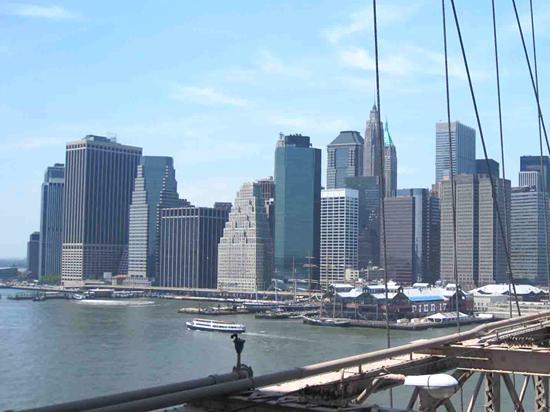 บรุกลีน, นิวยอร์ก: 前方にマンハッタン