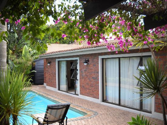Aziza Guest House: Chambre et piscine