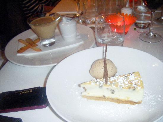 Gourmet Tart Company: My White Choc Cheesecake with Praline ice-cream