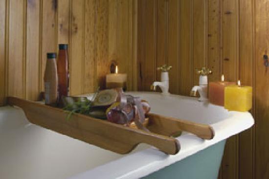 Forest Edge Nature-lovers' Retreat : Indoor victorian bath plus outdoor shower