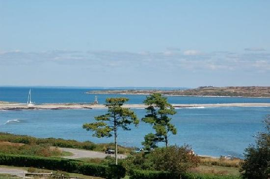 Cuttyhunk, MA: View of Buzzards Bay and Barges Beach