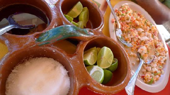 Hotelito Rincon de la Ceiba: Fresh lakefish ceviche