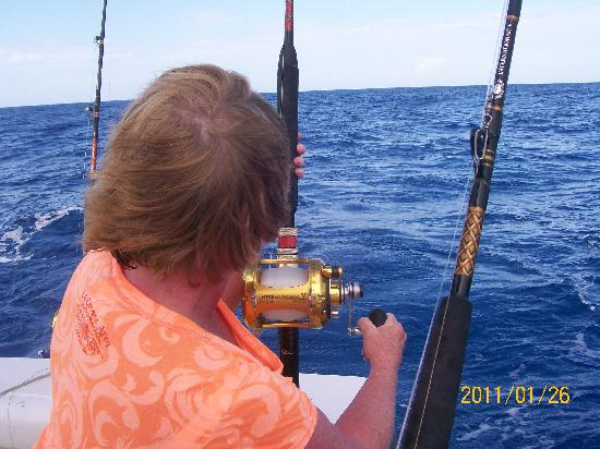 A great day of fishing picture of stanley 39 s deep sea for Deep sea fishing jamaica