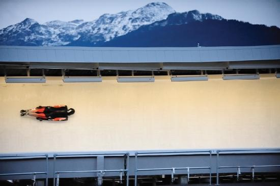 Уистлер, Канада: Skeleton Athlete at The Whistler Olympic Sliding Centre