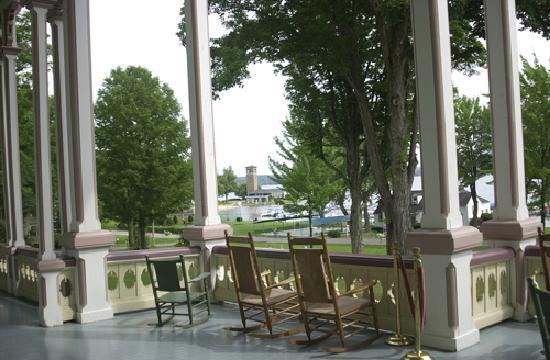 Athenaeum Hotel: The front porch of the Atheneaum Hotel is a wonderful setting to relax and enjoy a summer day or