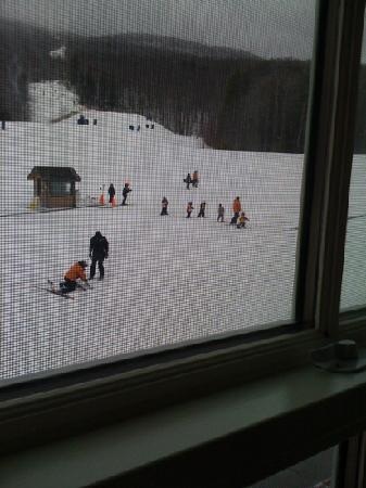 Mountain Lodge at Okemo: this is the view from my room at the Jackson gore inn