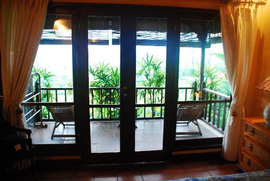 Kubu Carik Bali: Balcony from room