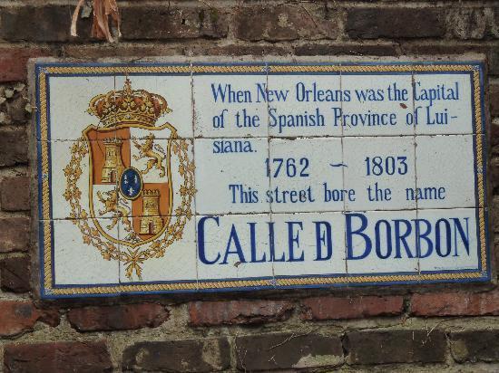 Bourbon Street: old Bourbon St sign