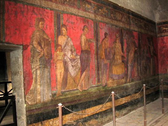 Villa dei misteri the large fresco adorning the triclinium depicts a