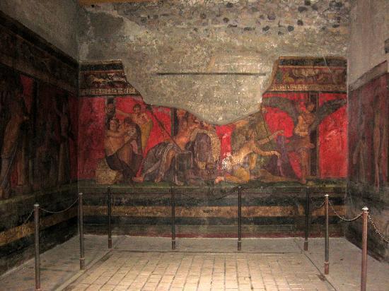 Painted garland picture of villa dei misteri pompeii tripadvisor