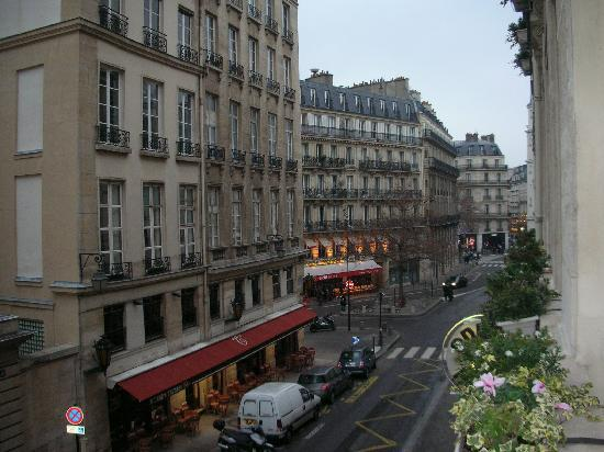 Odeon Hotel: view outside the french doors