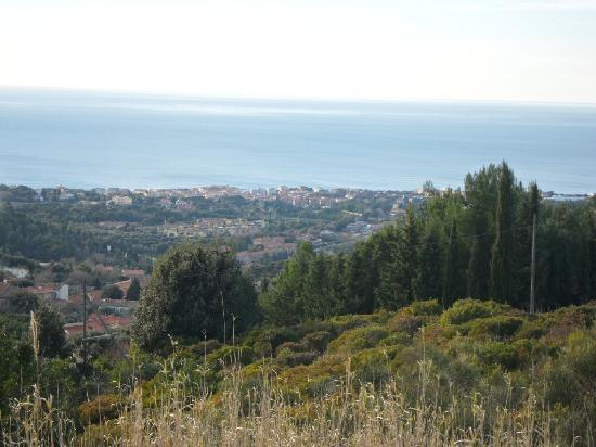 The hills and the sea at Livorno