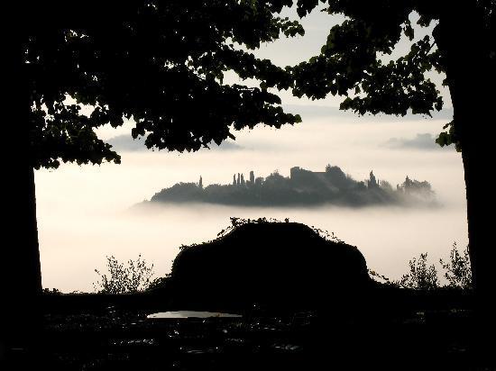Montestigliano Farm Holidays in Tuscany: Morning mist