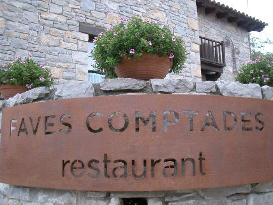 Tavertet, สเปน: Faves Comptades - Restaurant