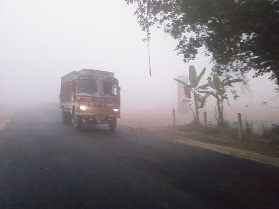 Malda, India: On the way on a foggy Morn