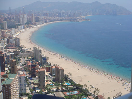 Benidorm, Espagne : nice view from the roof
