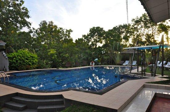 blick zum pool billede af hotel chandrika tissamaharama tripadvisor. Black Bedroom Furniture Sets. Home Design Ideas