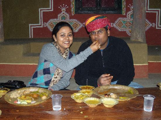 Chokhi Dhani Village: Us at chokhi dhani