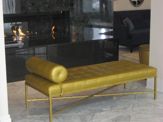 Hotel Blackhawk, Autograph Collection: a lobby fireplace